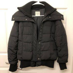 Old Navy Black Puffer Bomber Winter Jacket